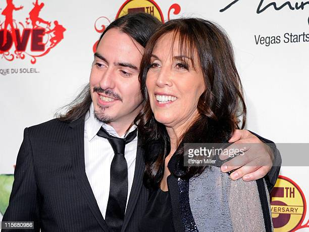 Recording artist Dhani Harrison and Olivia Harrison attend the fifth anniversary celebration of The Beatles LOVE by Cirque du Soleil show at The...