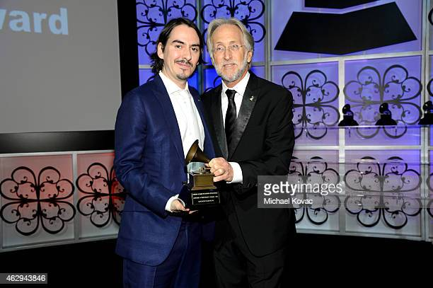 Recording artist Dhani Harrison and President/CEO of The Recording Academy and GRAMMY Foundation President/CEO Neil Portnow attend The 57th Annual...