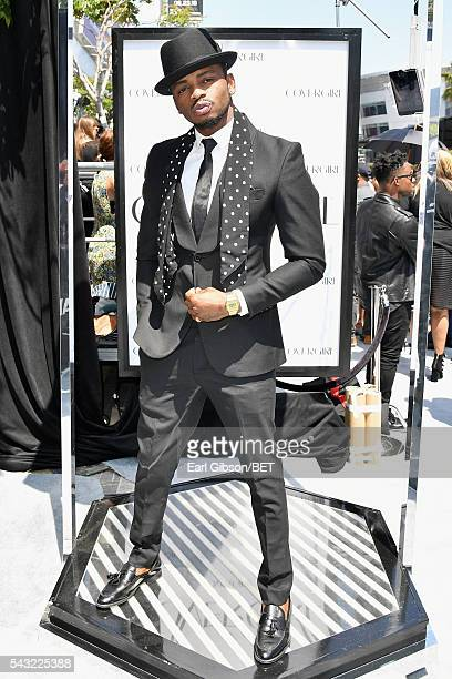 Recording artist Diamond Platnumz attends the Cover Girl glam stage during the 2016 BET Awards at the Microsoft Theater on June 26 2016 in Los...