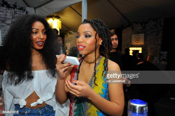 Recording artist Diana Gordon and Chloe Baile attend GRAMMY Gift Lounge during the 59th GRAMMY Awards at STAPLES Center on February 10, 2017 in Los...