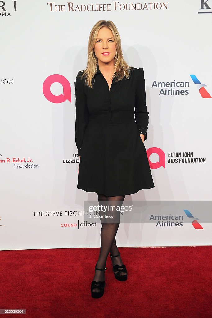 Recording Artist Diana Krall attends 15th Annual Elton John AIDS Foundation An Enduring Vision Benefit at Cipriani Wall Street on November 2, 2016 in New York City.