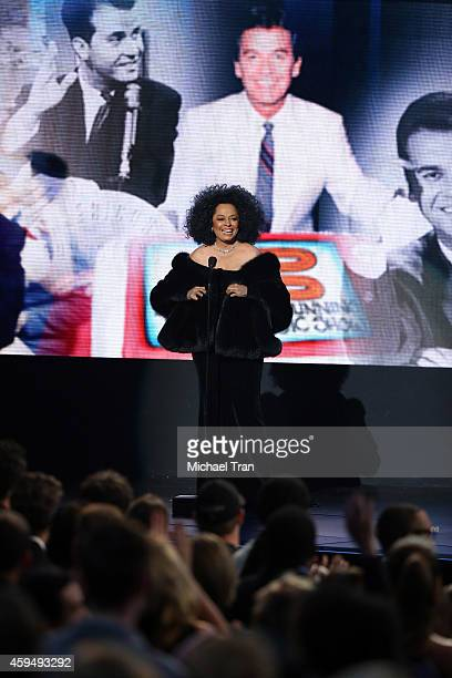 Recording artist Diana Ross speaks onstage during the 2014 American Music Awards held at Nokia Theatre LA Live on November 23 2014 in Los Angeles...