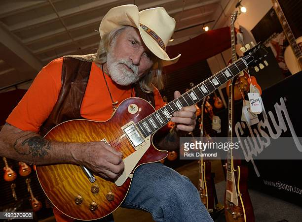 Recording Artist Dickey Betts at the press confrence for the Gibson Custom Southern Rock tribute 1959 Les Paul at the Gibson Guitar Factory on May 19...