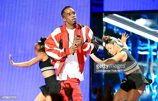 Recording artist Diddy performs onstage during the 2015 BET Awards at the Microsoft Theater on June 28 2015 in Los Angeles California