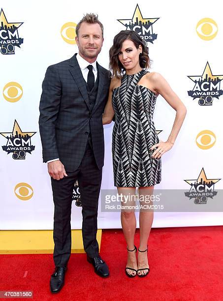Recording artist Dierks Bentley and Cassidy Black attend the 50th Academy of Country Music Awards at ATT Stadium on April 19 2015 in Arlington Texas