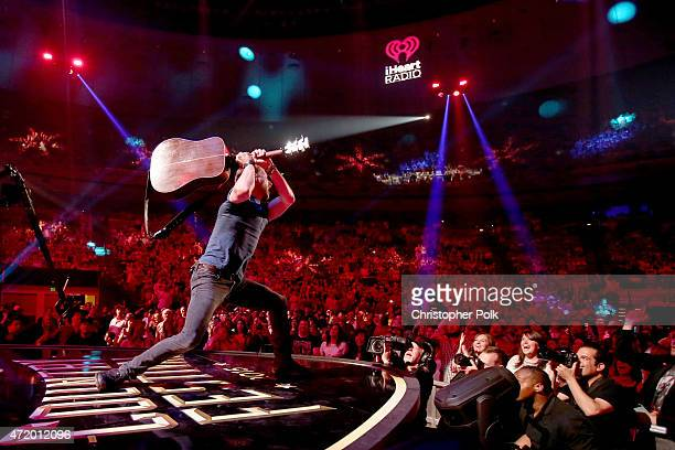 Recording artist Dierks Bentley performs onstage during the 2015 iHeartRadio Country Festival at The Frank Erwin Center on May 2 2015 in Austin Texas...