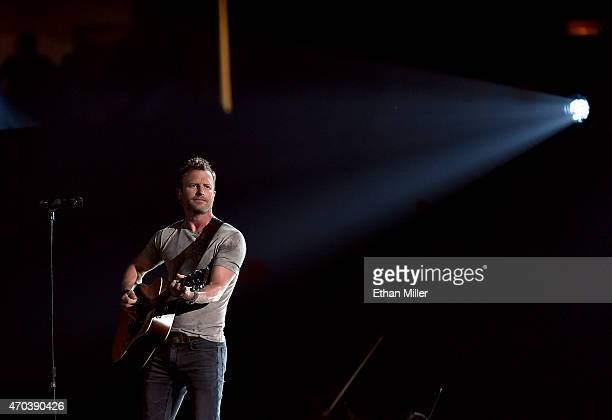 Recording artist Dierks Bentley performs onstage during the 50th Academy of Country Music Awards at ATT Stadium on April 19 2015 in Arlington Texas