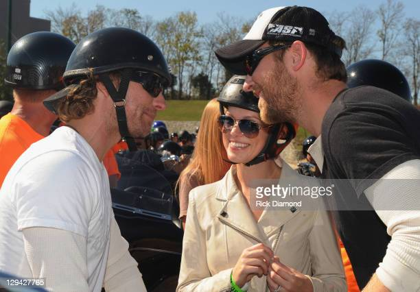 Recording Artist Dierks Bentley Publicist Cassie McConnell and Husband Charles Kelley of Lady Antebullem backstage during Dierks Bentley's 6th annual...