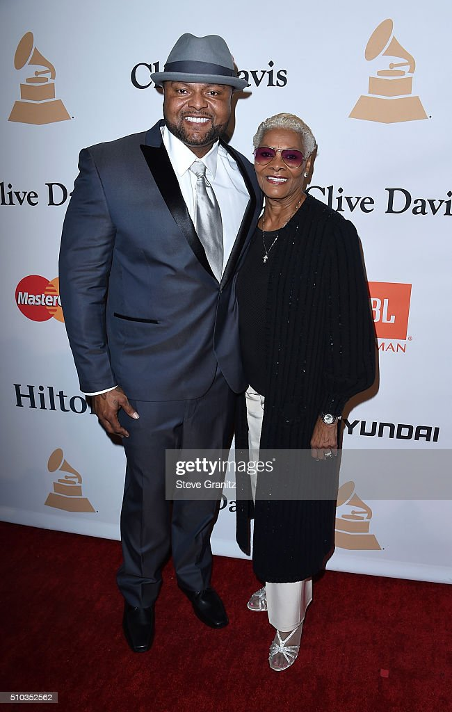 Recording artist Dionne Warwick (R) and guest attend the 2016 Pre-GRAMMY Gala and Salute to Industry Icons honoring Irving Azoff at The Beverly Hilton Hotel on February 14, 2016 in Beverly Hills, California.