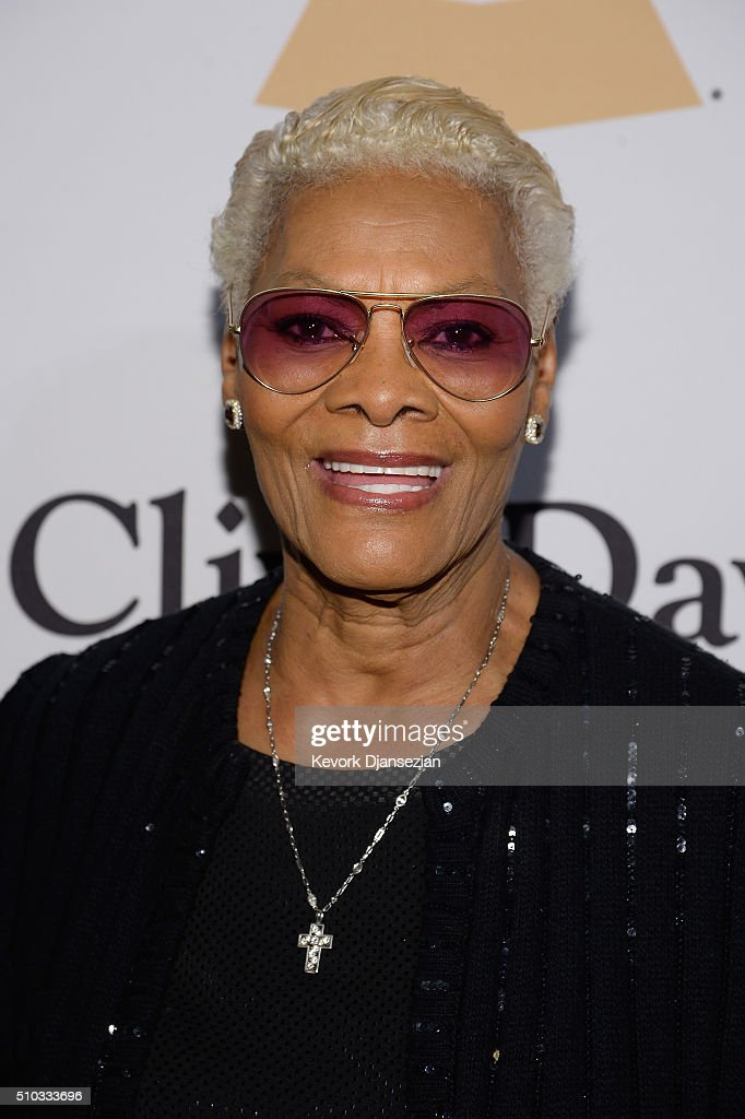 Recording artist Dionne Warwick attends the 2016 Pre-GRAMMY Gala and Salute to Industry Icons honoring Irving Azoff at The Beverly Hilton Hotel on February 14, 2016 in Beverly Hills, California.