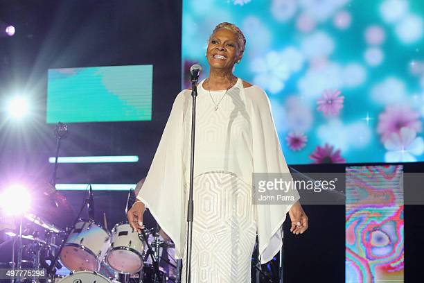 Recording artist Dionne Warwick performs onstage during the 2015 Latin GRAMMY Person of the Year honoring Roberto Carlos at the Mandalay Bay Events...