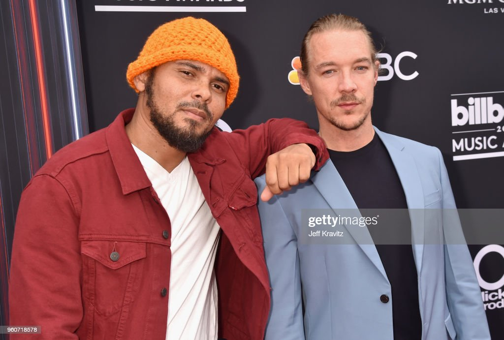 Recording artist Diplo (R) attends the 2018 Billboard Music Awards at MGM Grand Garden Arena on May 20, 2018 in Las Vegas, Nevada.
