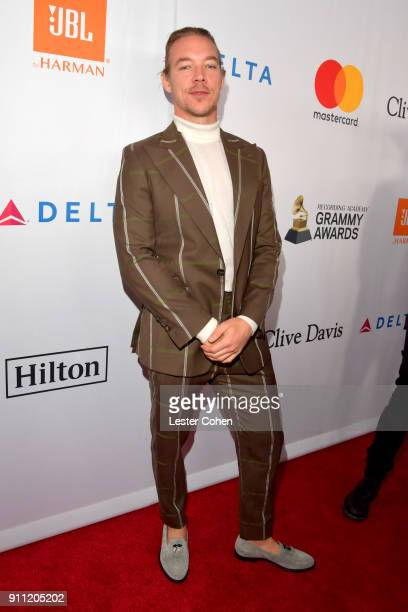 Recording artist Diplo attends the Clive Davis and Recording Academy PreGRAMMY Gala and GRAMMY Salute to Industry Icons Honoring JayZ on January 27...