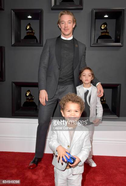 Recording artist Diplo Lazer Pentz and Lockett Pentz attend The 59th GRAMMY Awards at STAPLES Center on February 12 2017 in Los Angeles California