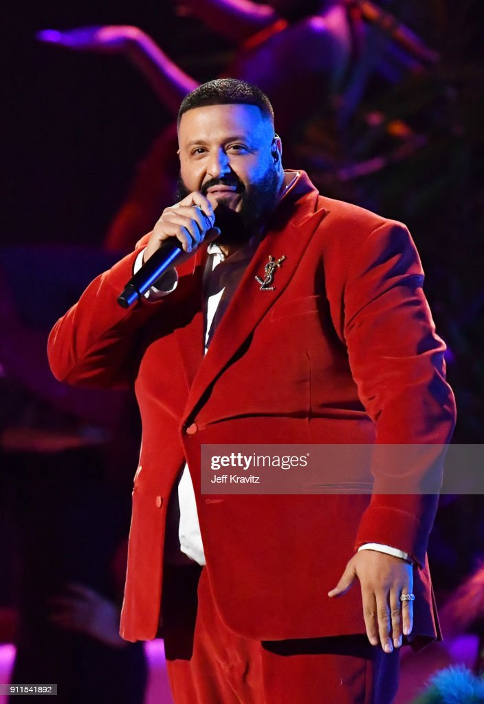 Recording artist DJ Khaled performs onstage during the 60th Annual GRAMMY Awards at Madison Square Garden on January 28, 2018 in New York City.