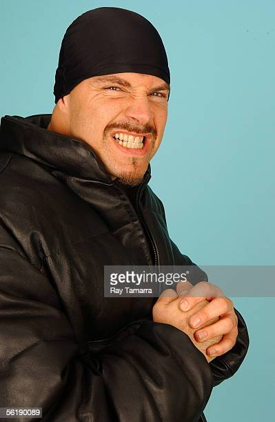 Recording artist DJ Muggs poses during a portrait session at JR Studio November 16 2005 in New York City