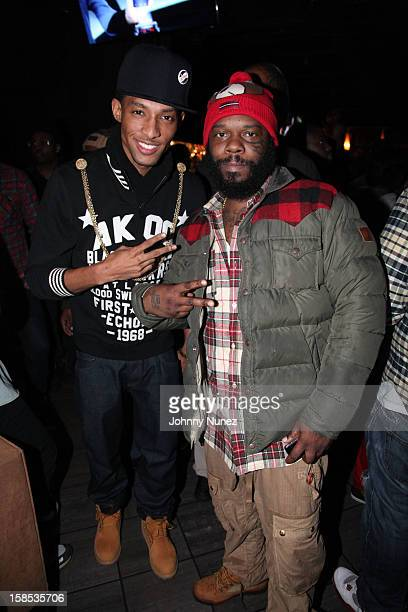 Recording artist DKing and SmifNWessun's Tek attend Cans For Cocktails on December 17 2012 in New York City