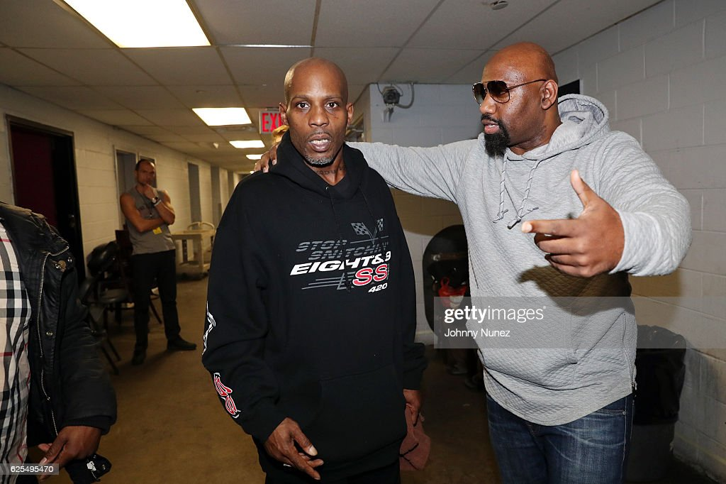 Recording artist DMX and music executive Joaquin 'Waah' Dean backstage at B.B. King Blues Club & Grill on November 23, 2016 in New York City.