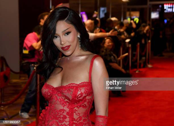 Recording artist Doja Cat attends the 2020 Adult Video News Awards at The Joint inside the Hard Rock Hotel Casino on January 25 2020 in Las Vegas...