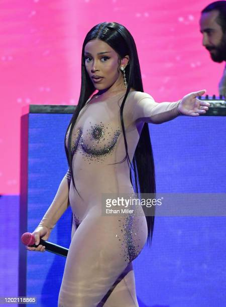 Recording artist Doja Cat performs during the 2020 Adult Video News Awards at The Joint inside the Hard Rock Hotel Casino on January 25 2020 in Las...
