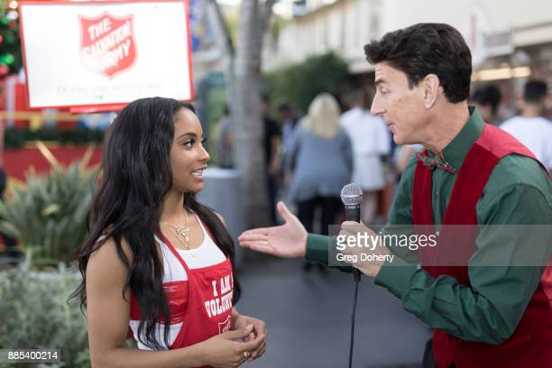 Recording Artist Dominae is interviewed by BJ Korros at The Salvation Army Celebrity Kettle Kickoff Red Kettle Hollywood at the Original Farmers...