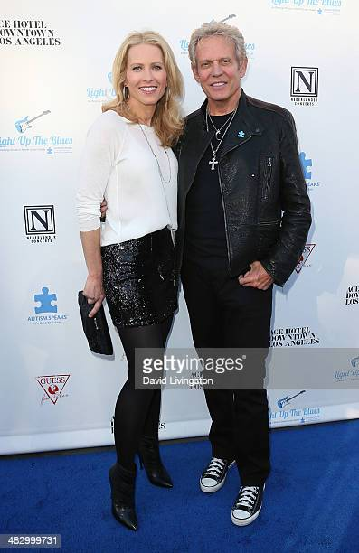 Recording artist Don Felder and Kathrin Nicholson attend the 2nd Light Up The Blues Concert an evening of music to benefit Autism Speaks at The...