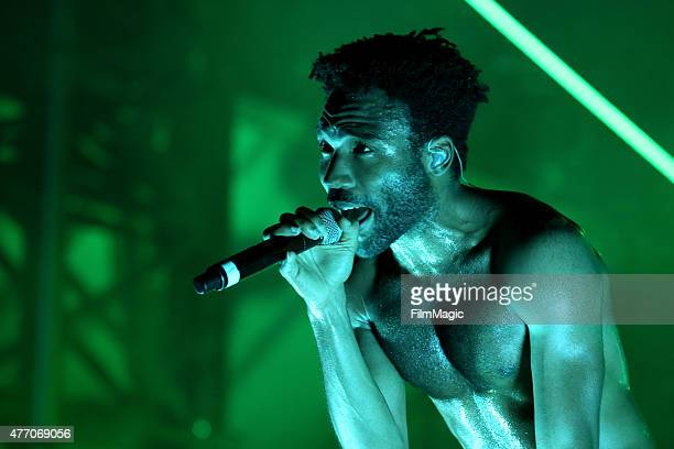 Recording artist Donald Glover aka Childish Gambino performs onstage at Which Stage during Day 3 of the 2015 Bonnaroo Music And Arts Festival on June...
