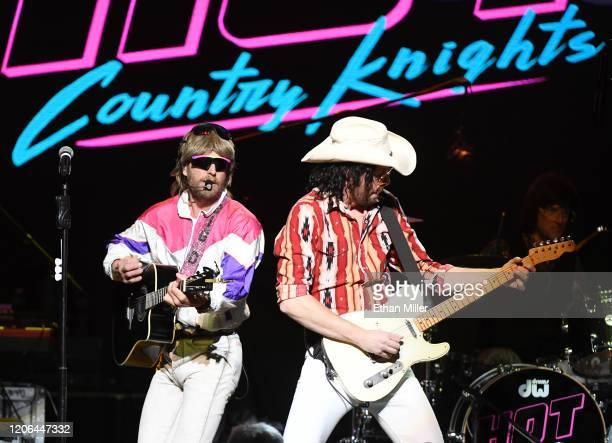 Recording artist Douglas Doug Douglason and guitarist Marty Ray Rayro Roburn of Hot Country Knights perform at The Chelsea at The Cosmopolitan of Las...