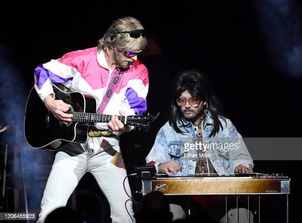 Recording artist Douglas Doug Douglason and steel guitarist Barry Van Ricky of Hot Country Knights perform at The Chelsea at The Cosmopolitan of Las...