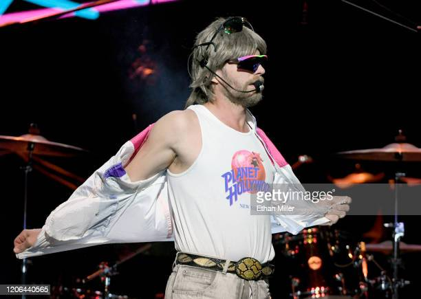 Recording artist Douglas Doug Douglason of Hot Country Knights performs at The Chelsea at The Cosmopolitan of Las Vegas on February 14 2020 in Las...