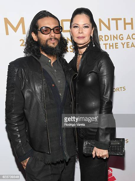 Recording artist Draco Rosa and actress/director Angela Alvarado attend the 2016 Person of the Year honoring Marc Anthony at the MGM Grand Garden...