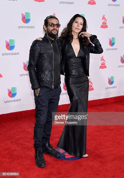Recording artist Draco Rosa and Angela Alvarado attend The 17th Annual Latin Grammy Awards at TMobile Arena on November 17 2016 in Las Vegas Nevada