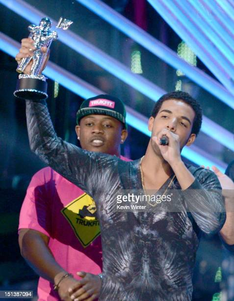 Recording artist Drake accepts the award for Best Hip Hop Video onstage during the 2012 MTV Video Music Awards at Staples Center on September 6 2012...
