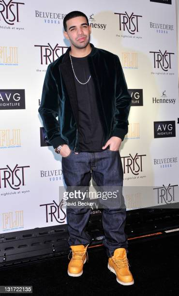 Recording artist Drake arrives at his concert afterparty at the Tryst nightclub early November 7 2010 in Las Vegas Nevada