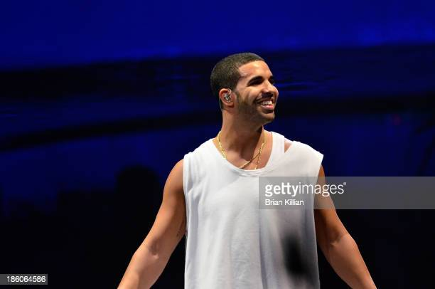 Recording artist Drake at Prudential Center on October 27 2013 in Newark New Jersey