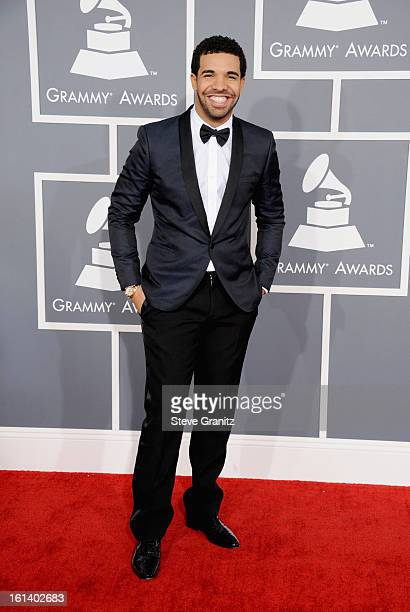 Recording Artist Drake attends the 55th Annual GRAMMY Awards at STAPLES Center on February 10 2013 in Los Angeles California