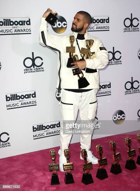 Recording artist Drake attends the press room at the 2017 Billboard Music Awards at TMobile Arena on May 21 2017 in Las Vegas Nevada