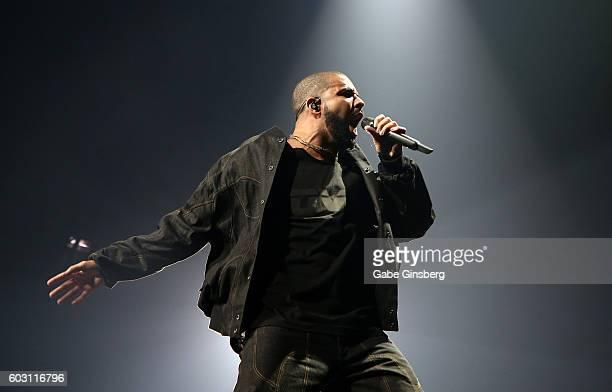 Recording artist Drake performs at TMobile Arena on September 11 2016 in Las Vegas Nevada