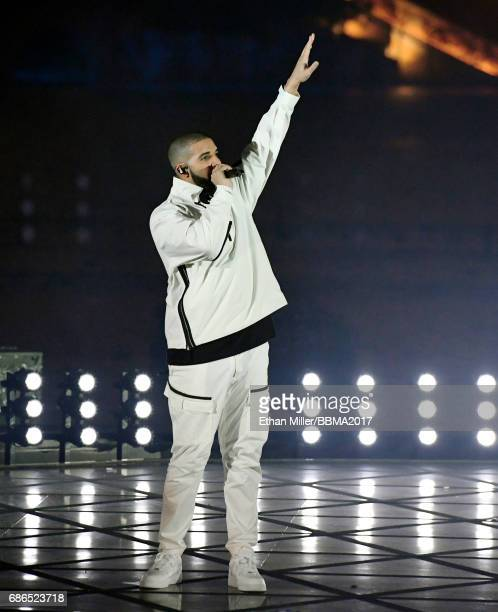 Recording artist Drake performs during the 2017 Billboard Music Awards at The Fountains of Bellagio on May 20 2017 in Las Vegas Nevada