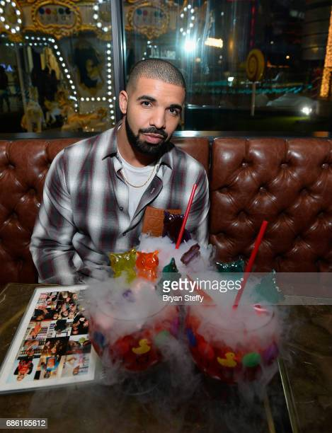 Recording artist Drake Virginia Black Whiskey and Sugar Factory American Brasserie debuts 'Night Owl' goblet at Sugar Factory American Brasserie at...