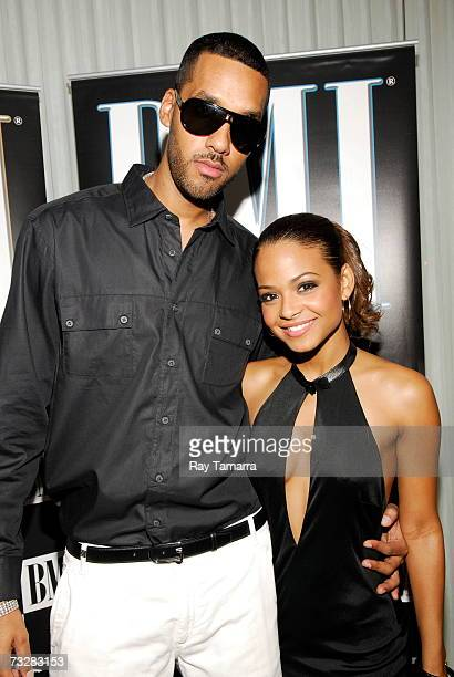 Recording artist Dre and Christina Milian attend BMI's PreGrammy Party at the Mondrian Hotel February 09 2007 in Los Angeles California