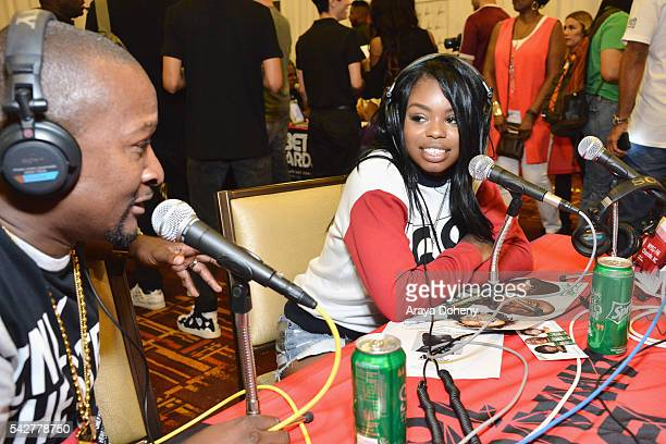 Recording artist Dreezy attends the radio broadcast center during the 2016 BET Experience at the JW Marriott Los Angeles LA Live on June 24 2016 in...