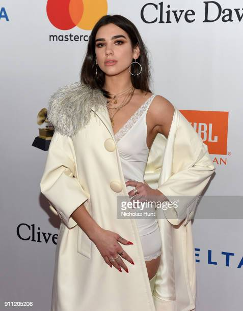 Recording artist Dua Lipa attends the Clive Davis and Recording Academy PreGRAMMY Gala and GRAMMY Salute to Industry Icons Honoring JayZ on January...