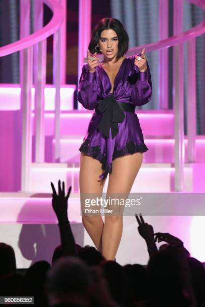 Recording artist Dua Lipa onstage during the 2018 Billboard Music Awards at MGM Grand Garden Arena on May 20 2018 in Las Vegas Nevada
