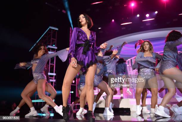 Recording artist Dua Lipa performs onstage during the 2018 Billboard Music Awards at MGM Grand Garden Arena on May 20 2018 in Las Vegas Nevada