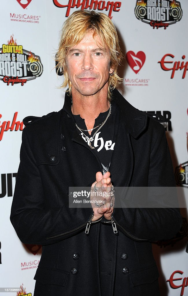Recording artist Duff McKagan arrives at the Guitar World's Rock & Roll roast of Zakk Wylde at City National Grove of Anaheim on January 19, 2012 in Anaheim, California.