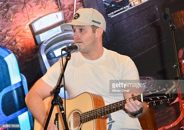Recording artist Easton Corbin performs during the Keepin' it Country with Daryle Singletary show during the National Finals Rodeo's Cowboy Christmas...
