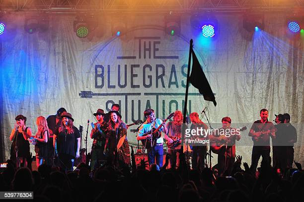 Recording artist Ed Helms perform onstage at The Bluegrass Situation Superjam at That Tent during Day 4 of the 2016 Bonnaroo Arts And Music Festival...