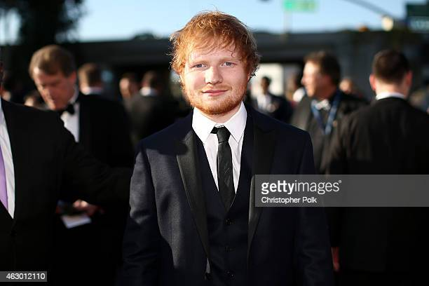 Recording artist Ed Sheeran attends The 57th Annual GRAMMY Awards at the STAPLES Center on February 8 2015 in Los Angeles California