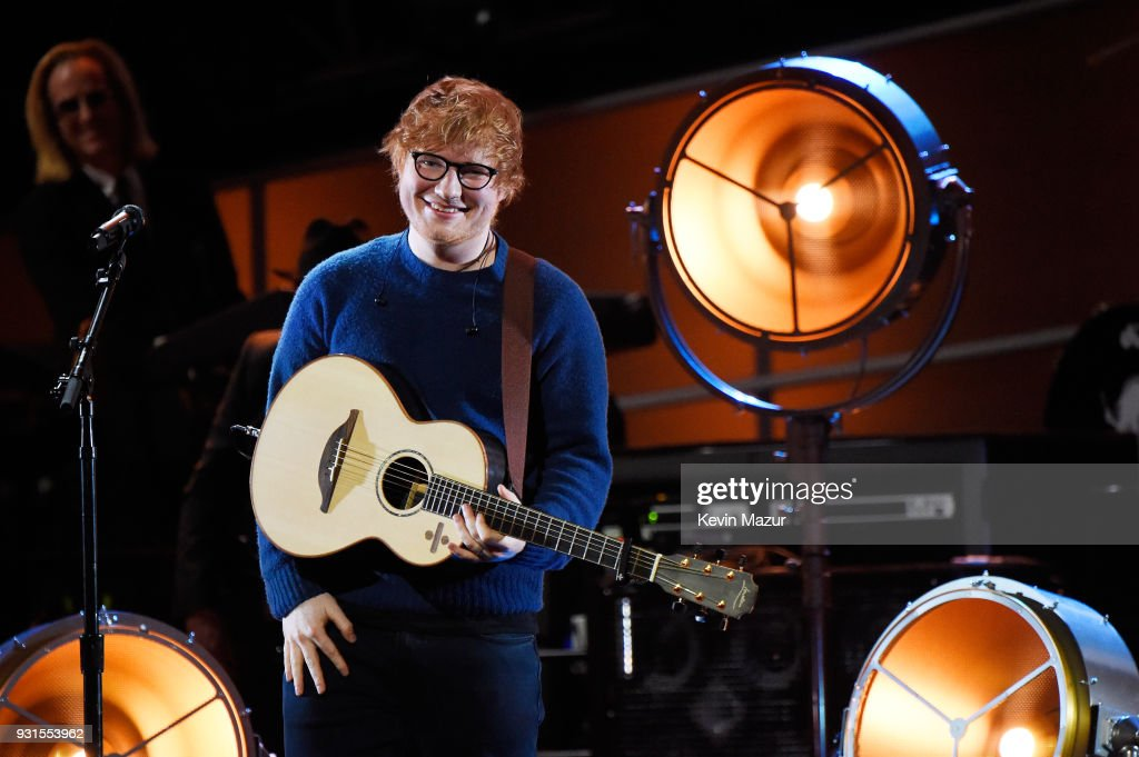 Recording artist Ed Sheeran performs onstage during 60th Annual GRAMMY Awards - I'm Still Standing: A GRAMMY Salute To Elton John at the Theater at Madison Square Garden on January 29, 2018 in New York City.